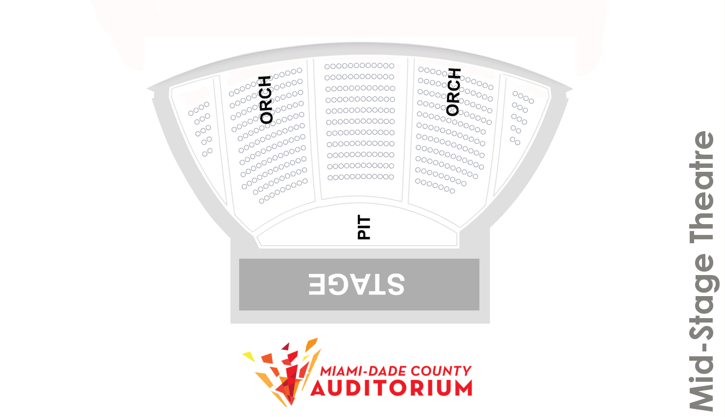 Florida Theatre Seating Chart Black Box Diagram Ucf Charts Mid Stage Map Miami Dade County Auditorium